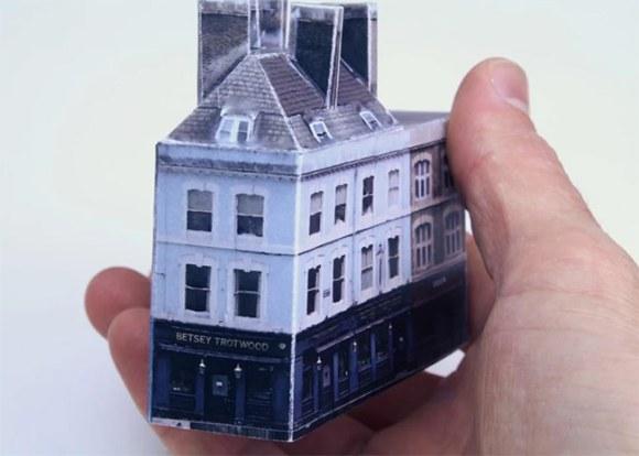 Paper model of a pub.