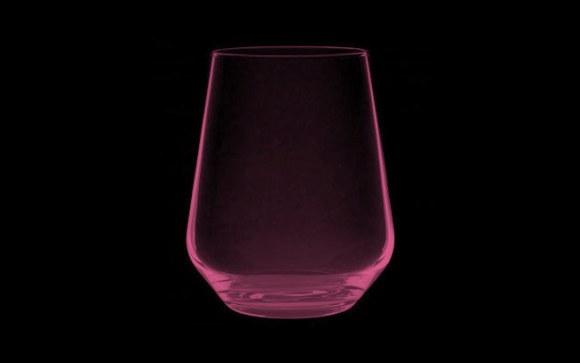 Allegra stemless glass.