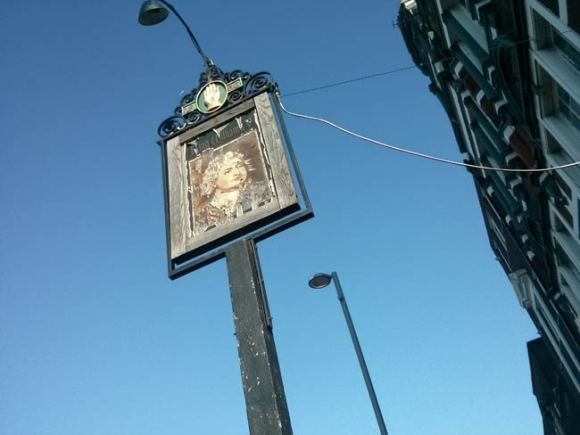 The sign of the William IV pub in Leyton.