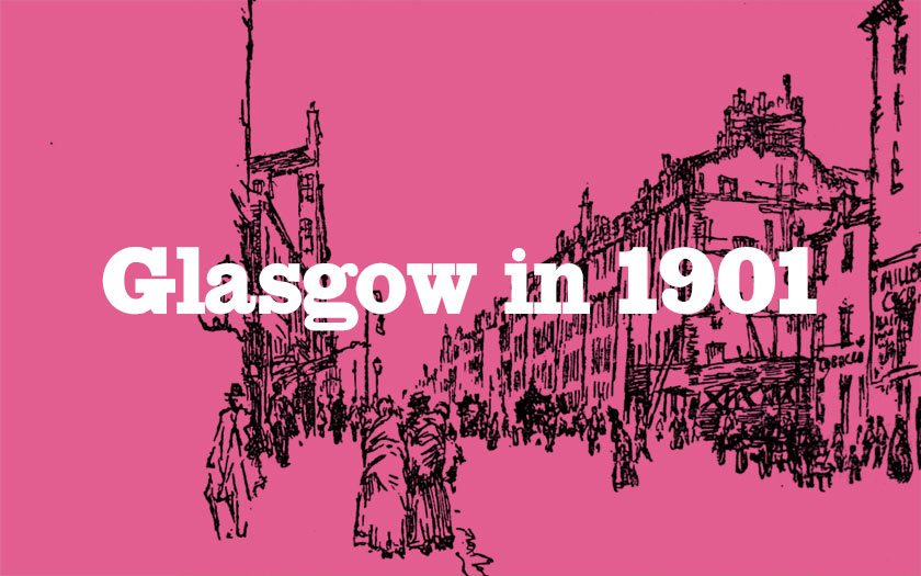 Illustration of Glasgow in 1901