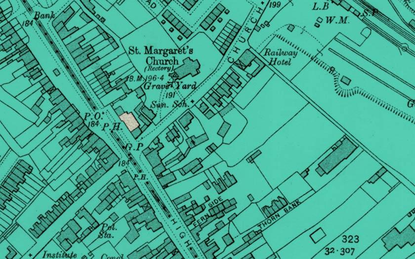 Historic map of Edgware