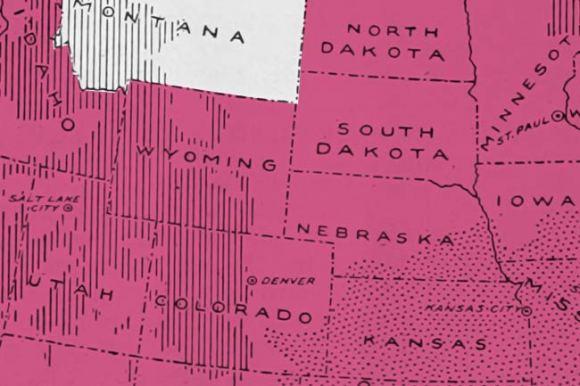 Montana on a map.