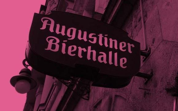 Augustiner beer hall sign.