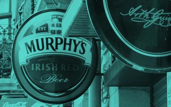 Murphy's Irish Red sign.