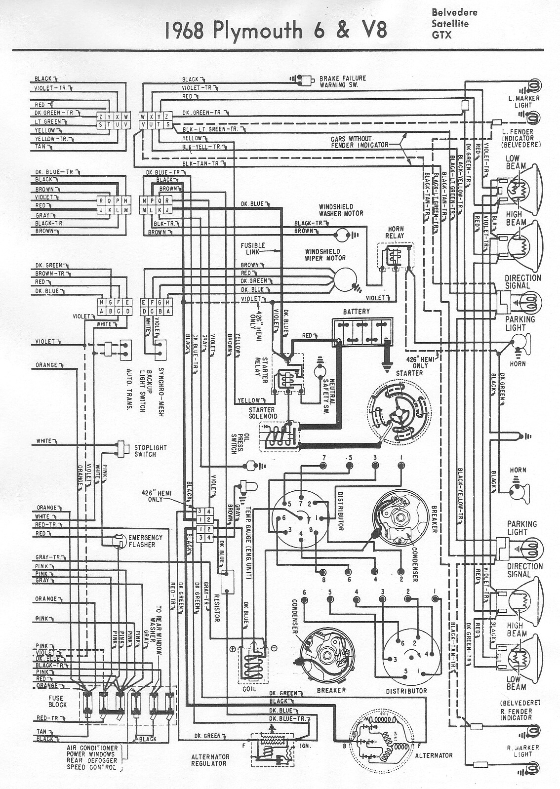 1968 fury wiring diagram wiring diagram 1967 plymouth belvedere wiring diagram