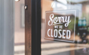 Sign on closed shop