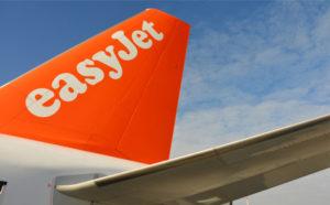 EasyJet logo on plane