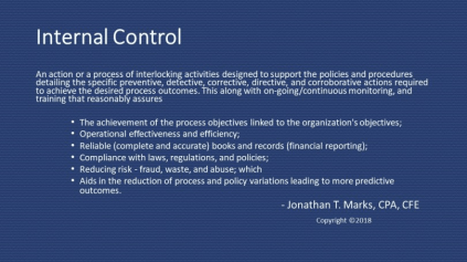 Internal control definition