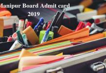 Manipur Board Admit card 2019