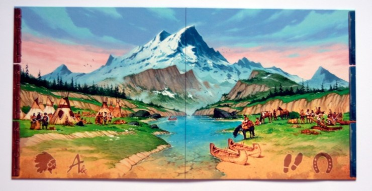 Figure 3: Main game board (Discoveries: The Journals of Lewis & Clark)