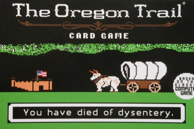 the oregon trail computer game turns into a card game boardgame