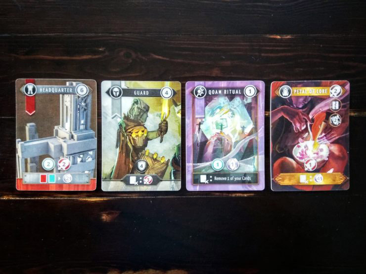 The 4 card types