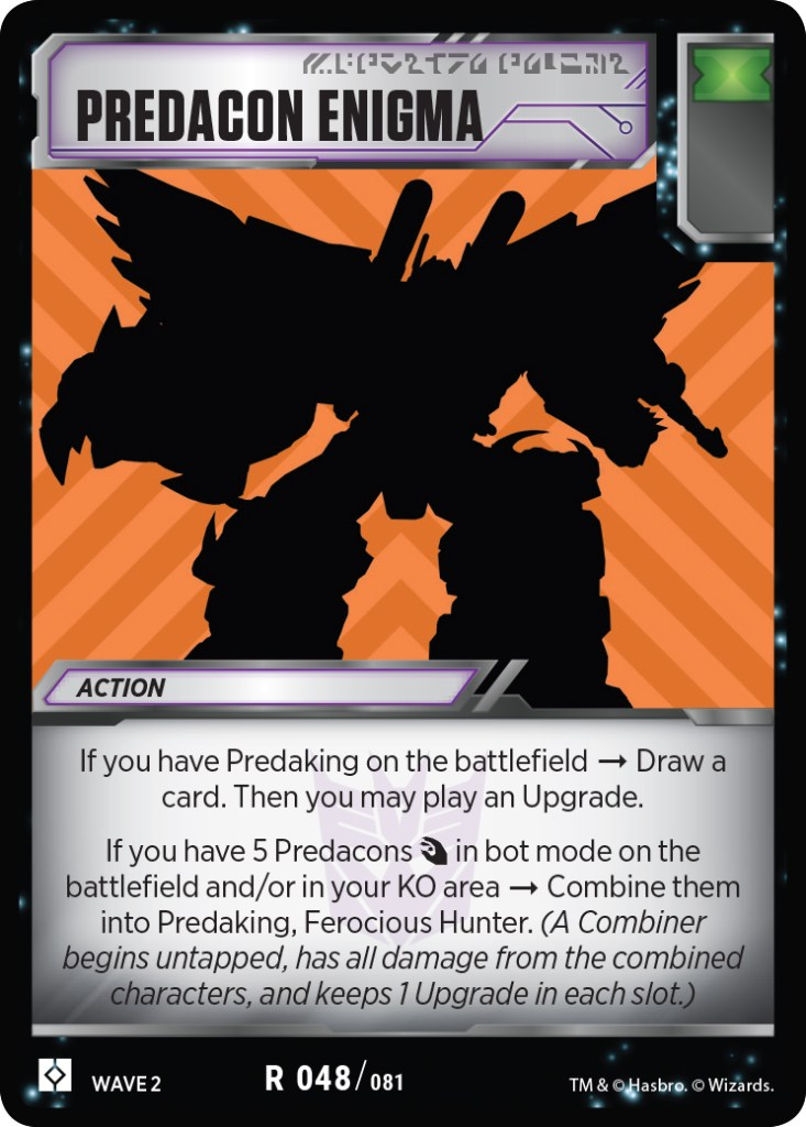 Transformers Trading Card Game Rise of the Combiners Predacon Enigma