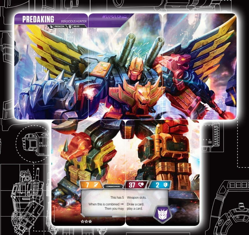 Transformers Trading Card Game Rise of the Combiners Predaking