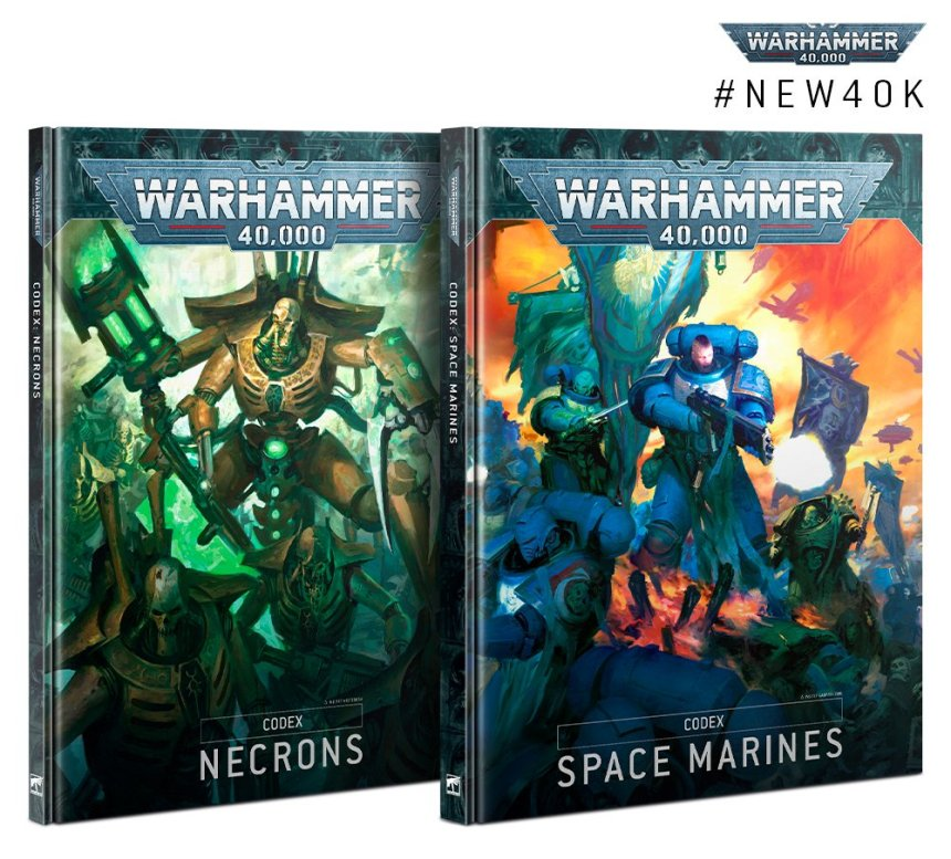 Codex Necrons and Codex Space Marines