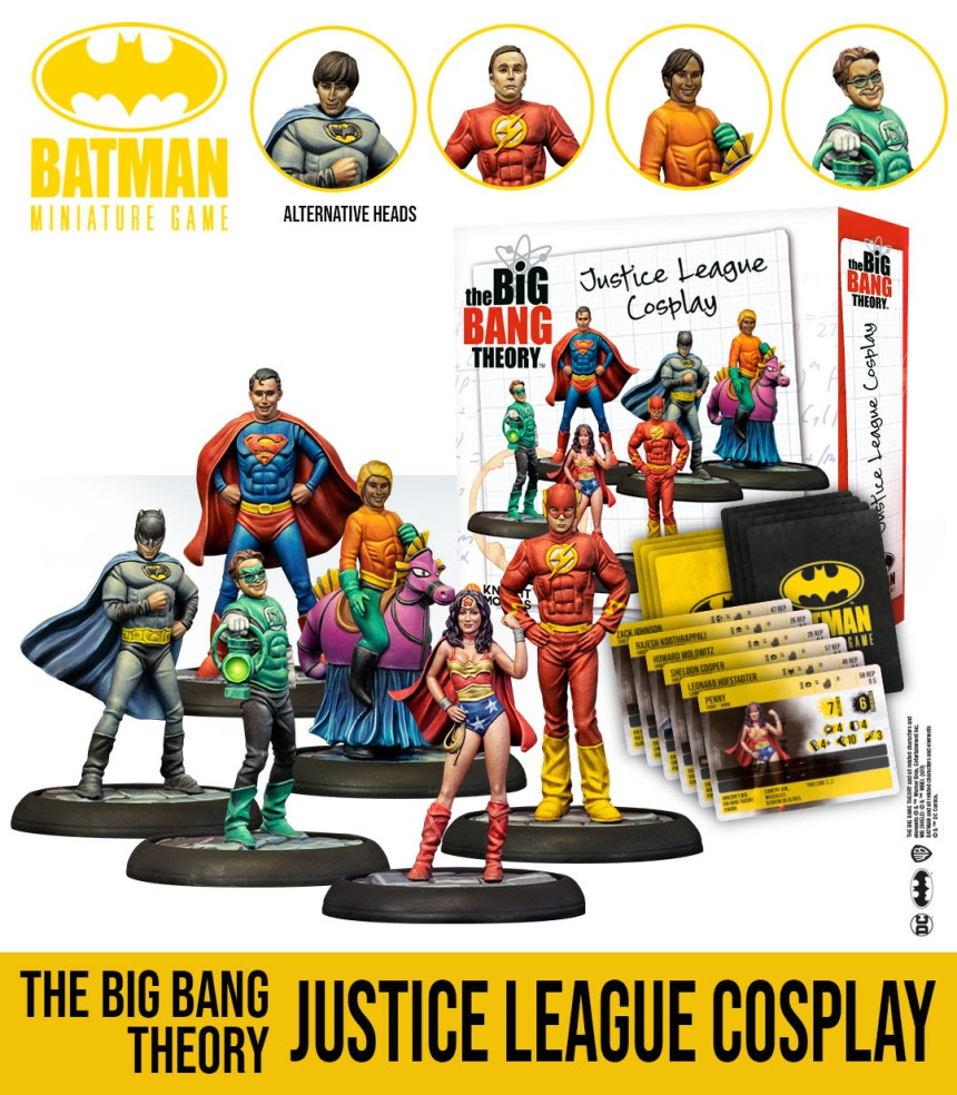 Batman Miniature Game: The Big Bang Theory Justice League Cosplay