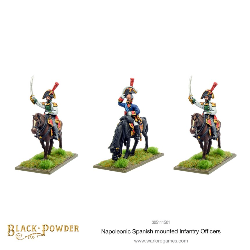 Black Powder - Napoleonic Spanish Mounted Infantry Officers.