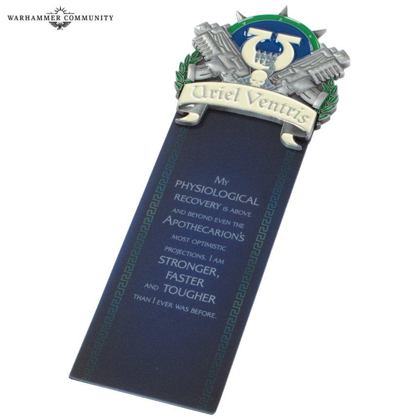 Ultramarines bookmark