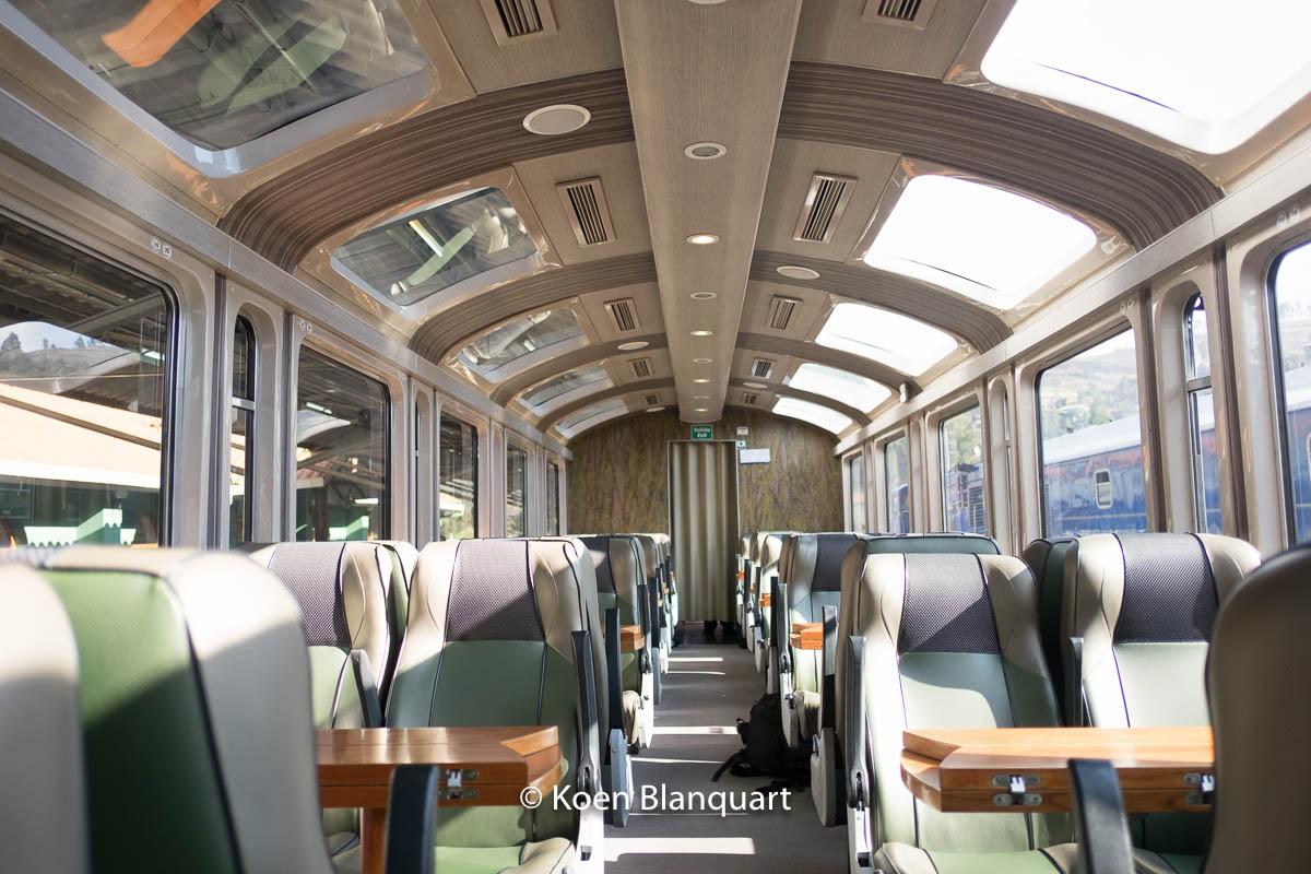 The Vistadome service from Perurail. Panoramic windows.