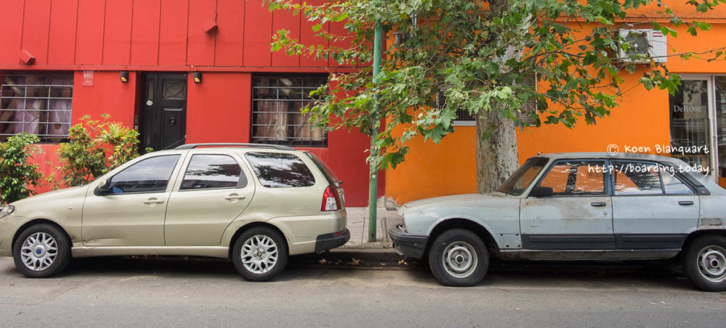 The colors of the Palermo neighborhood in Buenos Aires.