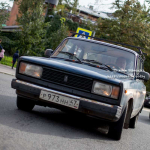 Lada in the streets of Saint petersburg