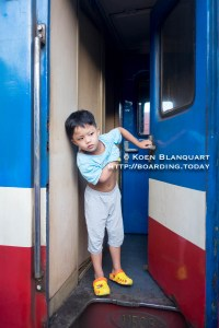 Bin, the son of the family in my compartment, comes to have a look while the train makes a stop.