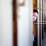 Kid playing on the train between Saigon and Hanoi