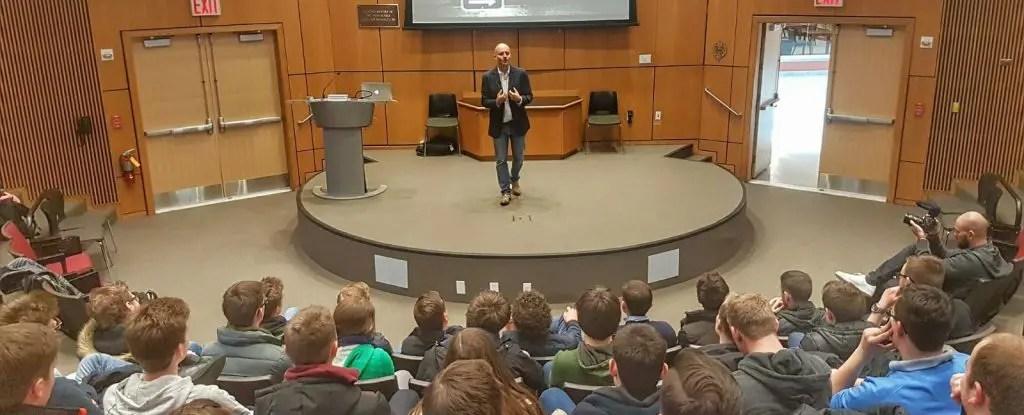 Koen Blanquart Public Speaker Presenting at Fordham