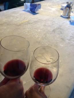 Mid-day wine break