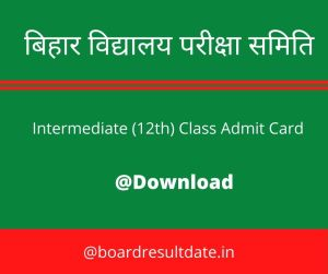 BSEB 12th Admit Card