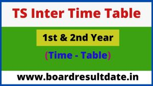 TS Inter Time Table