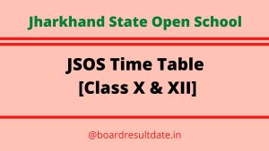 JSOS Time Table