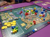 We got to demo Rialto from Tasty Minstrel Games, which I had already picked up from their booth.