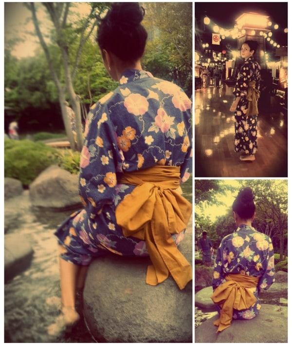 onsen collage