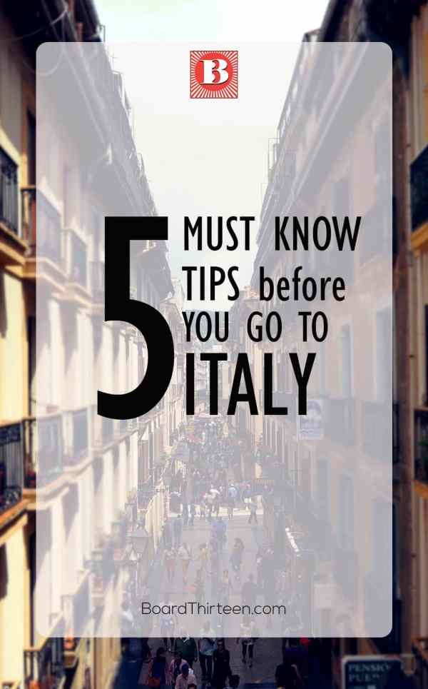 Italy must know tips
