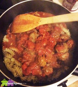 Cooking Pasta & Meatballs