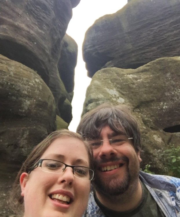 Mike & Tamz at Brimham Rocks