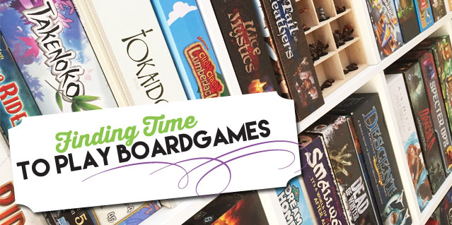 Making time for boardgames
