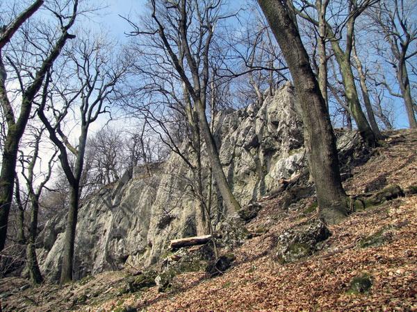 Tu niekde je vstup do jaskyne Malá skala.