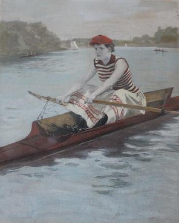 woman rower Courtesy Bachelors Barge Club