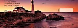 Lighthouse picture on check