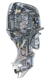 Honda's 250 is its largest outboard, although the company continues to evaluate where the market is heading.