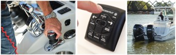 Mercury's Axius Joystick Piloting system, like competing setups, allows for drastically easier docking. Its exclusive Skyhook electronic anchor feature automatically keeps a boat positioned or maintains a drift orientation. The company expects Skyhook to be a very popular addition with anglers.