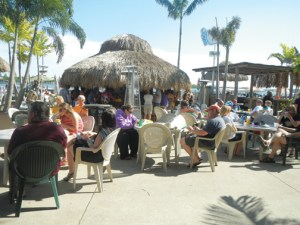 Parks Marina's Barefoot Bar is a waterfront destination for boaters and other tourists in Iowa's Great Lakes region.