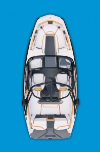 Scarab's all new jet boats are designed with bolder colors and sharp lines to appeal to younger, more athletic boaters.