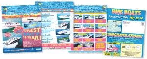 Events, sales and direct mail pieces are all part of BMC Boats' annual marketing plan.