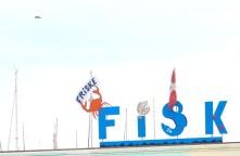Samsø ballen denmark fish sky blue sign