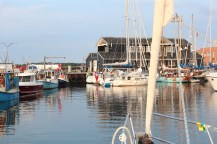 Læsø Denmark sky blue water boats house