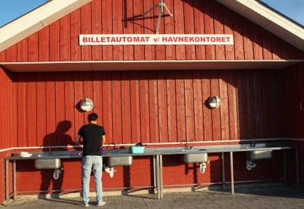 Læsø Denmark sky blue red building house