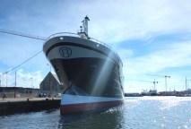 skagen denmark boat sky blue water waves